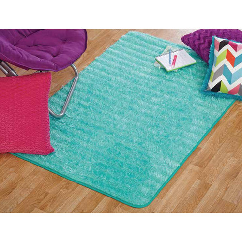 your zone lacey fur rug, spearmint, 3' x 4'8""