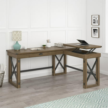 Remarkable Ameriwood Home Wildwood L Shaped Desk With Lift Top Multiple Colors Download Free Architecture Designs Licukmadebymaigaardcom