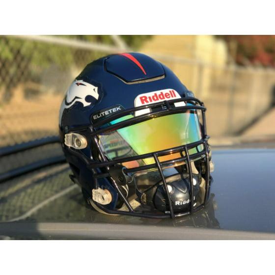 a1068753 EliteTek Football Helmet Visor - Universal Fits Youth & Adult Helmets  (Clear Purple Rain Colored) - Walmart.com