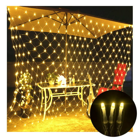 Led Net Lights Net Mesh 3mX2m 210 LEDs Fairy String LED Lights for Wedding Home Garden Xmas Party Valentine Christmas Decor,Warm White](Valentines Day Lights)