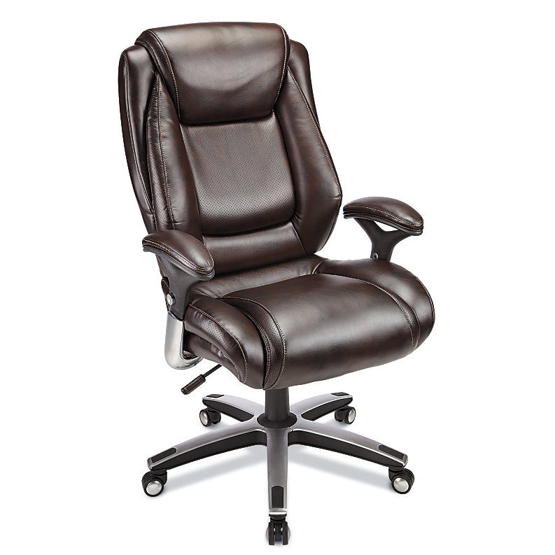 Realspace Endsleigh Executive Big & Tall Bonded Leather C...