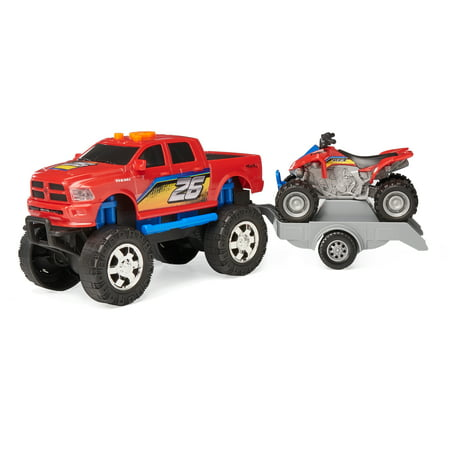 Adventure Wheels Sport Trailer, Dodge Ram with Kawasaki KFX 450 94 Dodge Dakota Truck