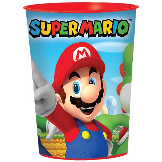 Super Mario 16 oz Favor Cup (each) - Party Supplies