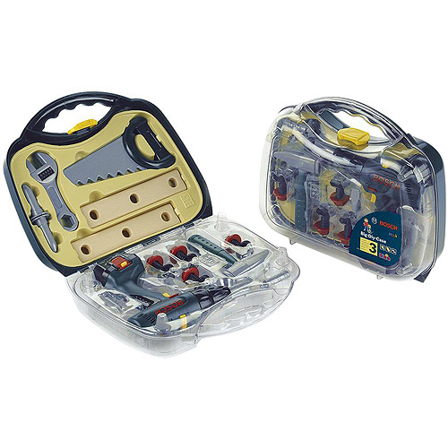 Theo Klein Bosch Large Toy Screwdriver Case with Accessories Play Set