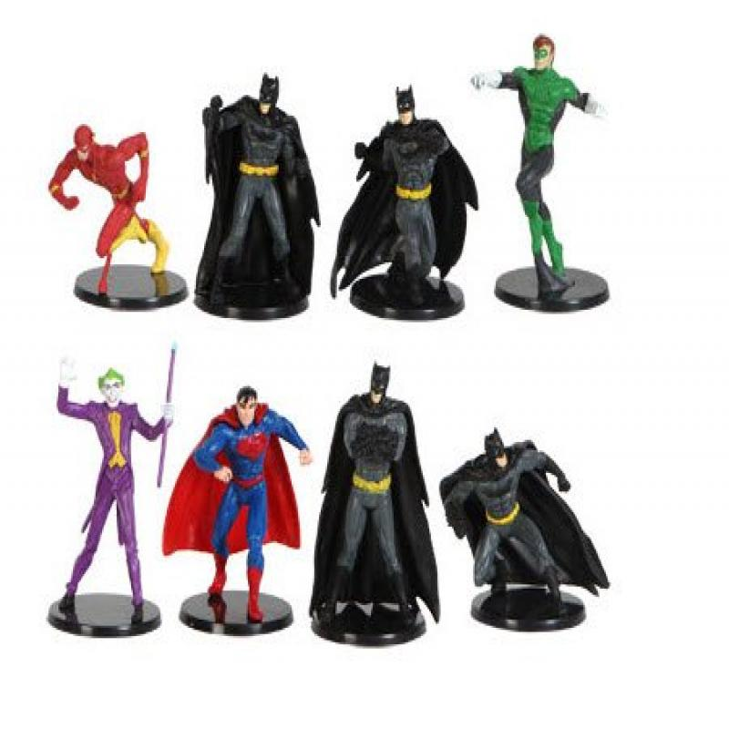 Dc Comics Miniature Figurine Set - Includes: Batman, Gree...