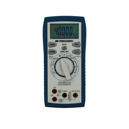 BK Precision 2712 True RMS AC/DC Tool Kit Digital Multimeter w/ Frequency counter & Analog Bar -