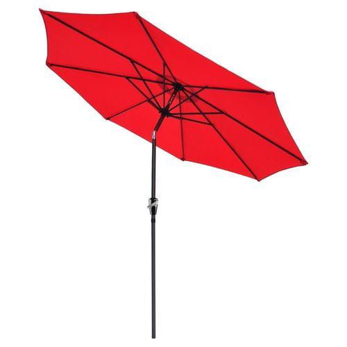 Winston Porter Perino Hand-Cranking Waterproof Folding Sunshade Beach Umbrella