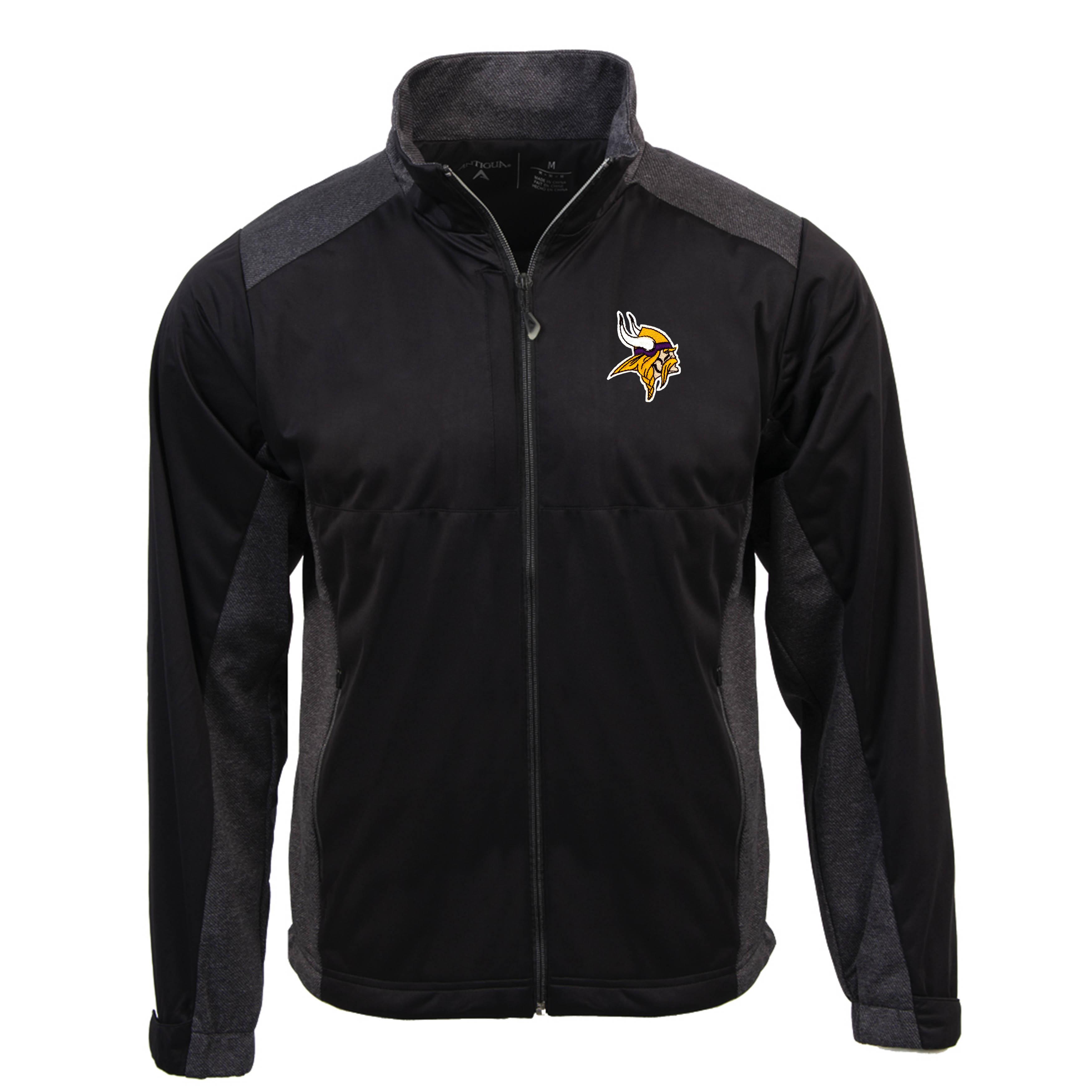 Minnesota Vikings Antigua Revolve Full-Zip Jacket - Black