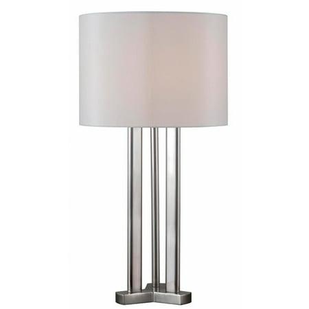 Kenroy Home Triplet Table Lamp, Brushed Steel