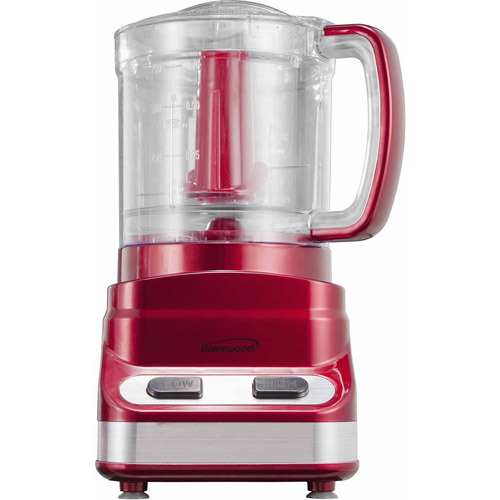 Brentwood 3-Cup Food Processor, Red