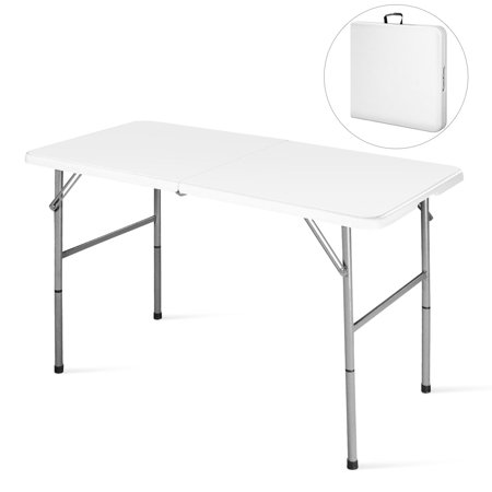 4\' Folding Table Portable Indoor Outdoor Picnic Party Dining Camp Tables  Utility