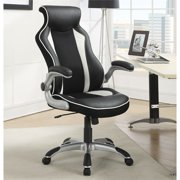 """Coaster """"Race Car"""" High Back Leather Ergonomic Gaming Office Chair"""