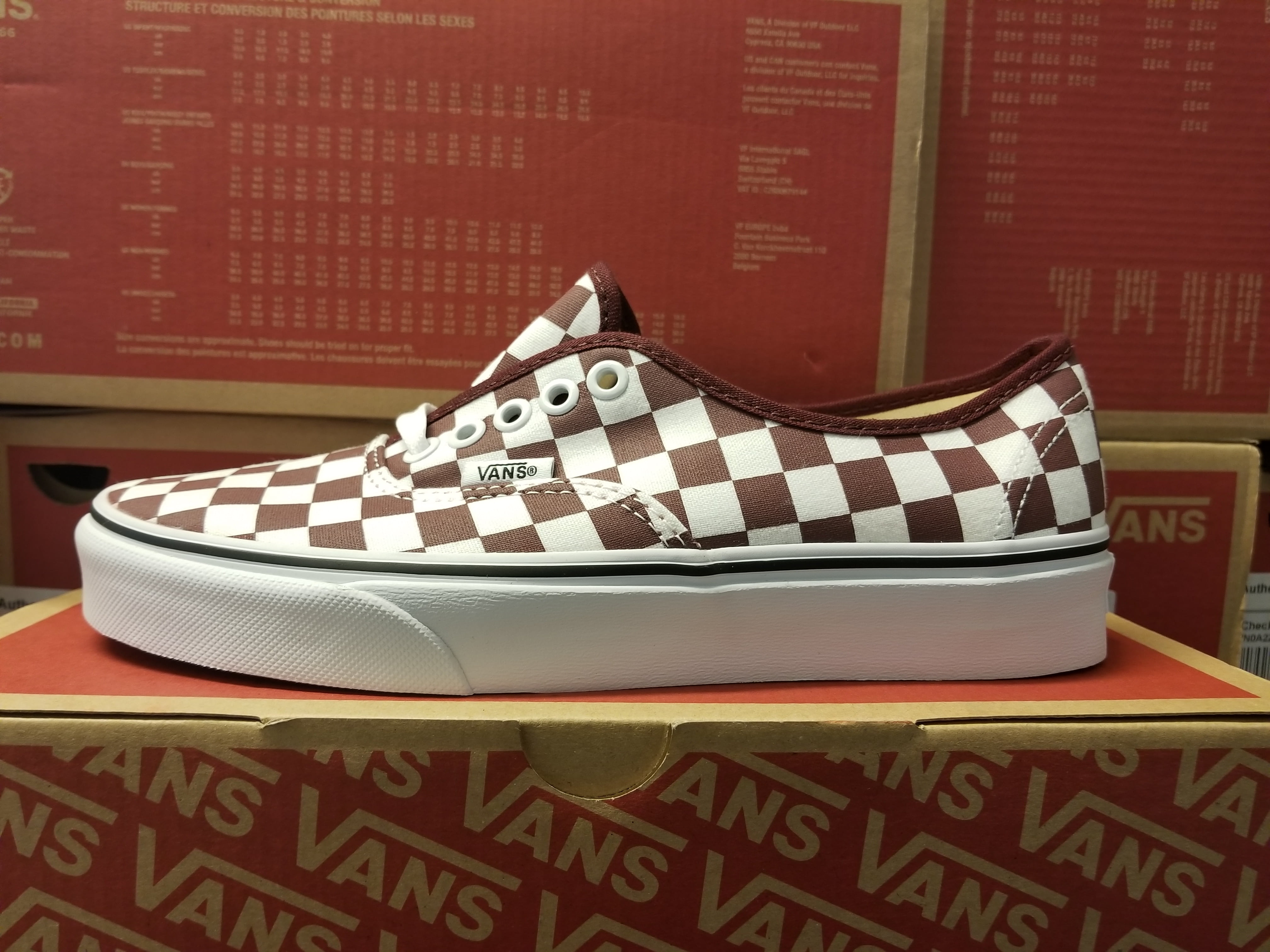 Vans Authentic Checkerboard Port Royale/White Women's Skate Shoes Size 7.5