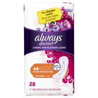 Always Discreet Liners, XL, 28 Count