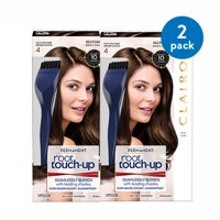 (2 Pack) Clairol Nice 'n Easy Root Touch-Up Permanent Hair Color, Dark Brown, 4