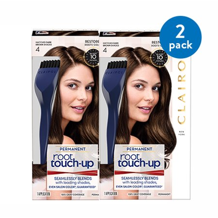 (2 Pack) Clairol Nice 'n Easy Root Touch-Up Permanent Hair Color, Dark Brown,
