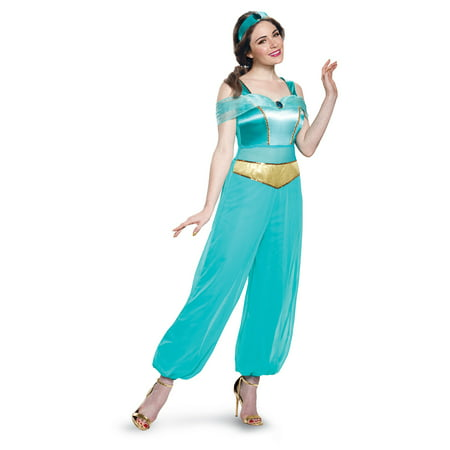 Disney Princess Jasmine Deluxe Adult Costume (Jasmine Halloween Costume Adults)