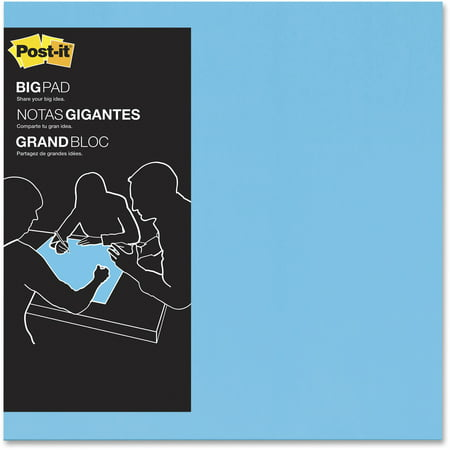 "Post-it Super Sticky Big Notes, 22"" x 22"", Aqua Blue"