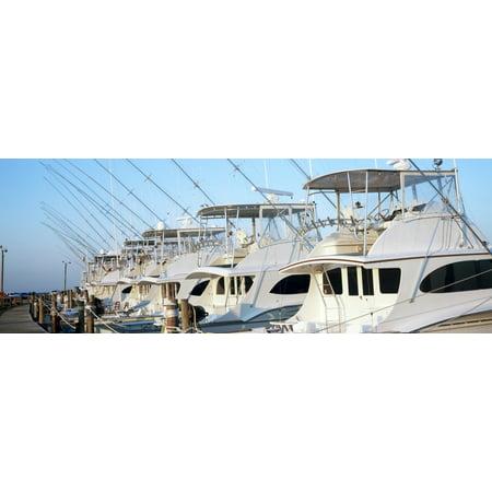 Yacht Charter Boats At A Harbor Oregon Inlet Outer Banks North Carolina Usa Poster Print