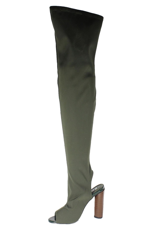Springland Over Knee Long Boots FANI-8.5-Olive