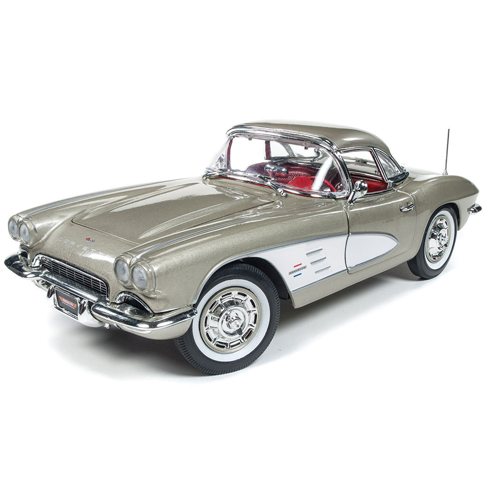 1961 Chevy Corvette Convertible 1:18 Scale Die Cast Car - Collectible