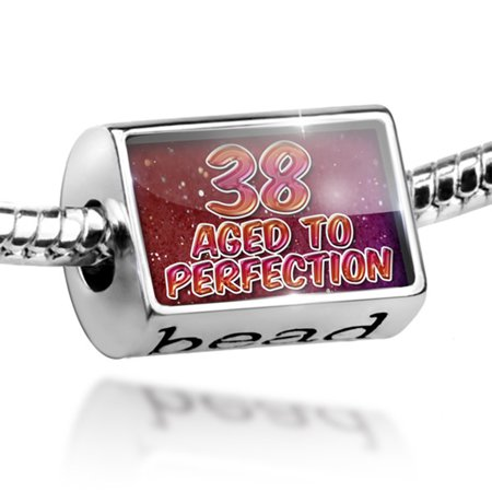 Bead 38 Years! Aged to Perfection, Happy Birthday Charm Fits All European (New Year Beads)