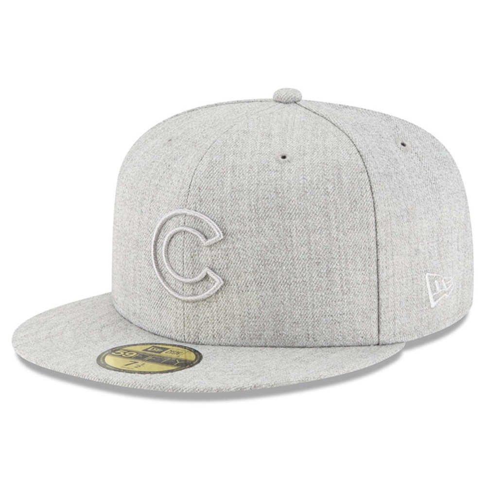 Chicago Cubs New Era Twisted Frame 59FIFTY Fitted Hat - Gray