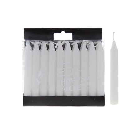 Halloween Candle Spells (Mega Candles - Unscented 4 Inch Mini Chime Ritual Spell Taper Candles - White, Set of)