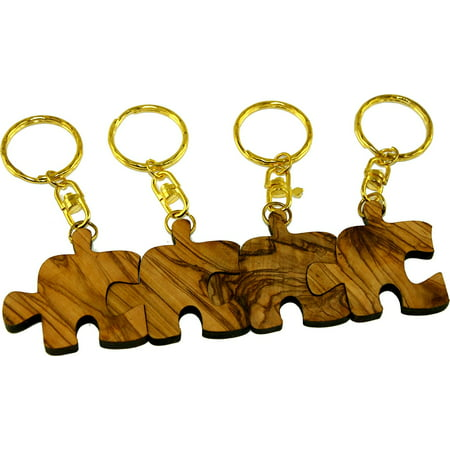 Olive Family Wood (puzzle olive wood keys chain or ring - family, friends or lovers forever symbol (4) )