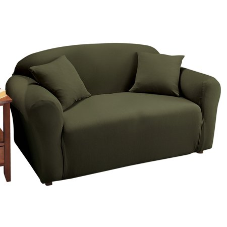 Superb Jersey Stretch Slipcover Furniture Protector Loveseat Forest Green Lamtechconsult Wood Chair Design Ideas Lamtechconsultcom