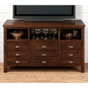 Jofran Urban Lodge 50 in. Media Unit - Brown