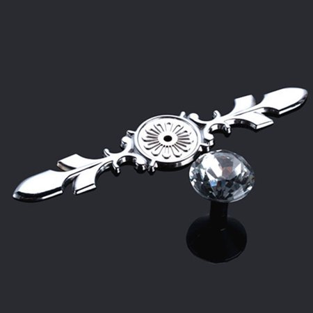European Style Clear Glass Crystal Flower Knobs Handle Pull For Cupboard Kitchen Bathroom Wardrobe Door Handle - image 3 of 9