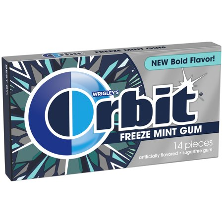 Orbit Gum, Peppermint Sugarfree Chewing Gum, 14 Pieces