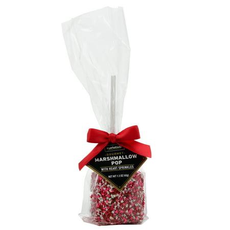 Marketside Gourmet Marshmallow Pop With Heart Sprinkles, 1 5 oz