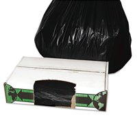 FlexSol Linear Low-Density Ecosac, 33 x 39, 33-Gallon, 1.5 Mil, Black, 150/Case