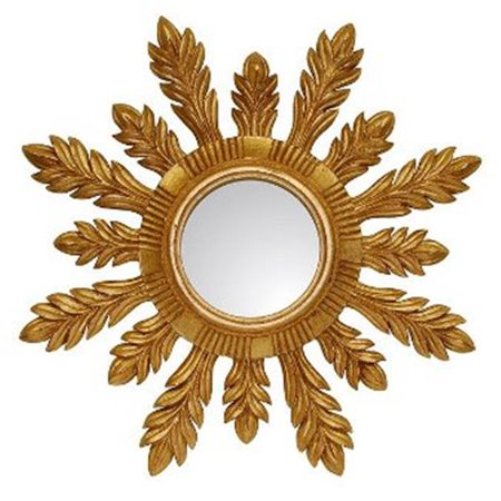 Hickory Manor HM204GL 29 in. Solare Gold Leaf Decorative Mirror