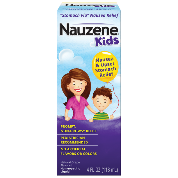 Nauzene Kids Liquid Nausea Remedy Natural Grape Flavor, 4 Fl. Oz.