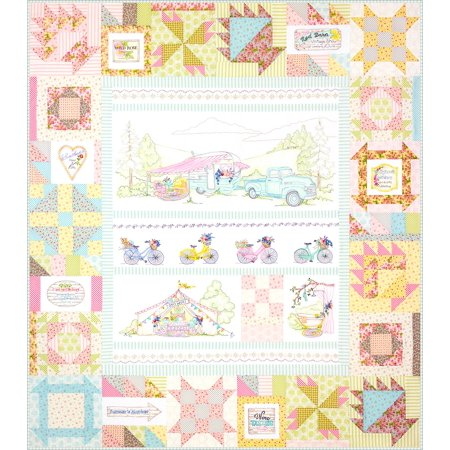 Girls' Getaway Complete Quilt Pattern Set by Crabapple Hill Studio: Pickup and Trailer; Clawfoot Tub, Girl's Week Tent; Bicycles and Lace; Lace and Signs, and - Crabapple Hill Halloween Patterns