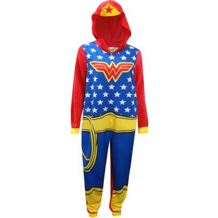 8e985fc330 DC - DC Comics Wonder Woman Onesie Union Suit Pajama - Walmart.com