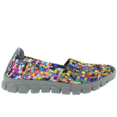 CC Resorts Stella - Mosaic Multi Woven Fabric Slip-On Wedge Sneaker ()