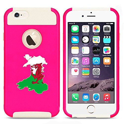 Apple iPhone 6 Plus   6s Plus Shockproof Impact Hard Case Cover Wales Welsh Flag...