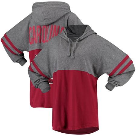 South Carolina Gamecocks Women's Pom Pom Jersey Oversized Long Sleeve Hooded T-Shirt -