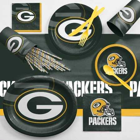 Green Bay Packers Ultimate Fan Party Supplies Kit (Packer Party Supplies)