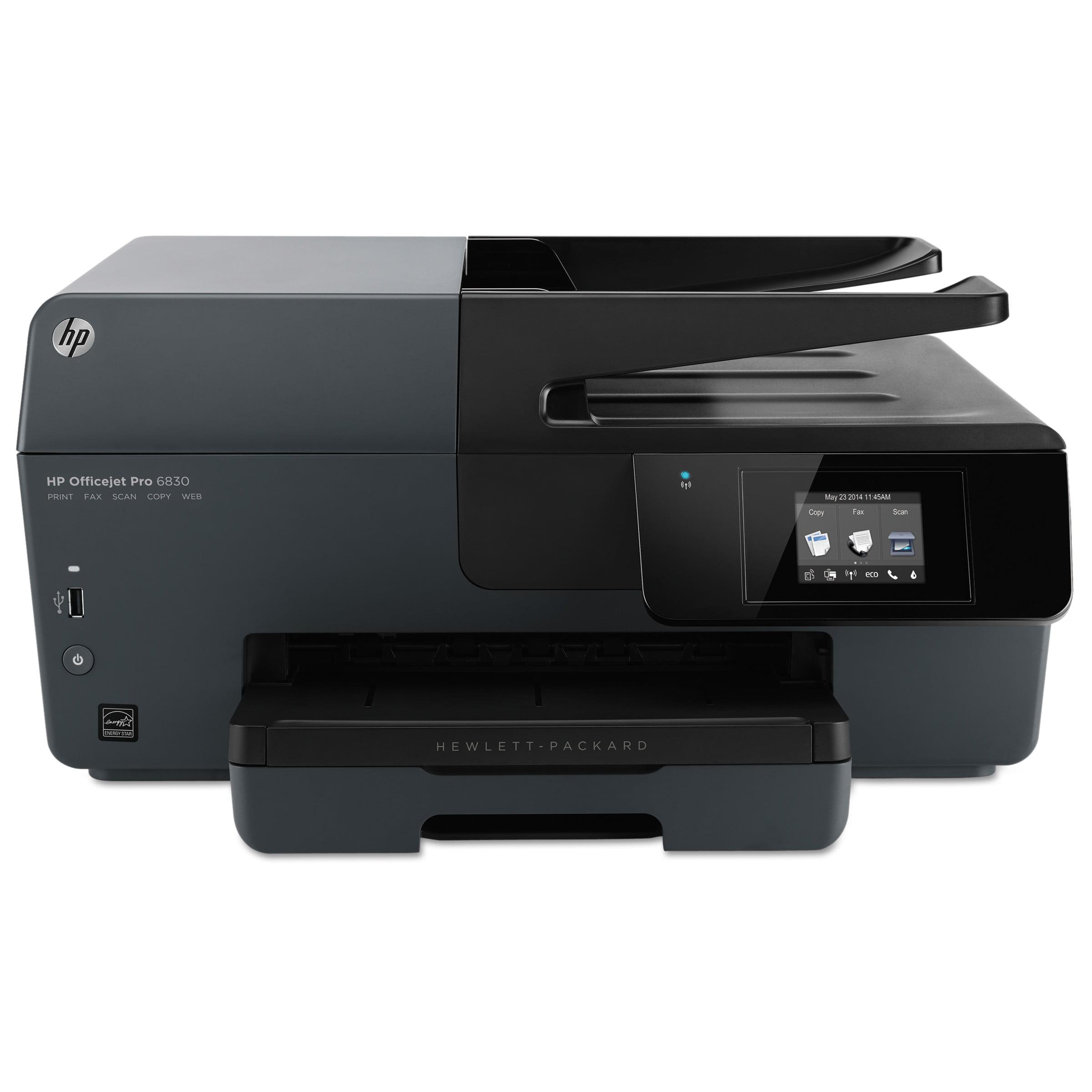 HP Officejet Pro 6830 e-All-in-One Inkjet Printer, Copy Fax Print Scan by HP