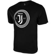 Icon Sports Mens Juventus UEFA Champions Soccer League Founder Circle Logo Short Sleeve T-Shirt