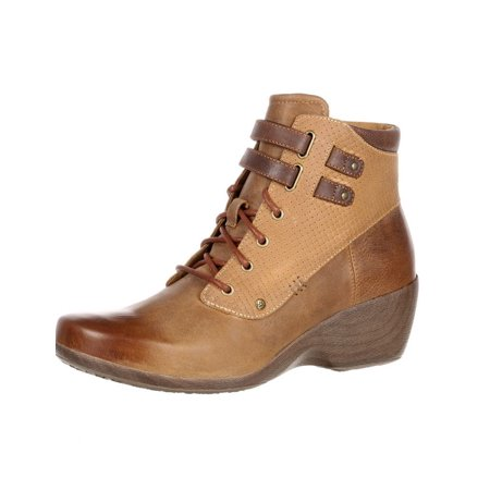 4EurSole Casual Boots Womens Concert WP Lace Up Brown RKH137