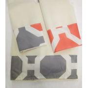 Elegant Design 3 Piece Decorative Bath Hand Towel Set Bathroom Wash Cloth Hadjer Orange