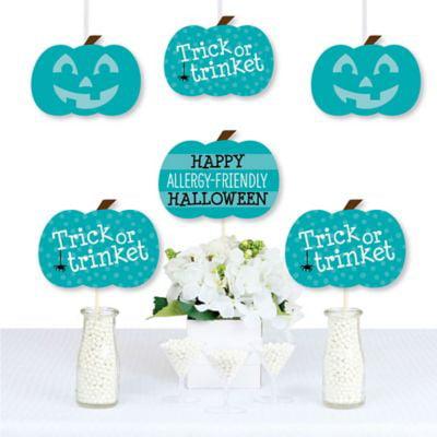 Teal Pumpkin - Decorations DIY Halloween Allergy Friendly Trick or Trinket Essentials - Set of 20