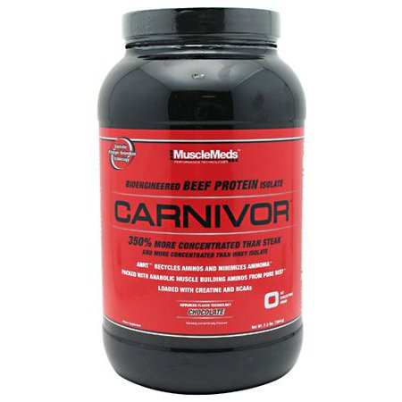 Carnivor Bioengineered Beef Protein Isolate Chocolate Dietary Supplement Powder, 2.1 lbs
