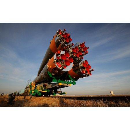 Canvas Print Russia Railcar Spacecraft Transport Soyuz Rocket Stretched Canvas 10 x 14